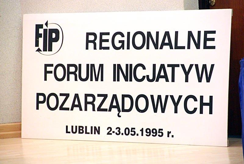 Regionalne Forum Inicjatyw Pozarządowych, Lublin 1995