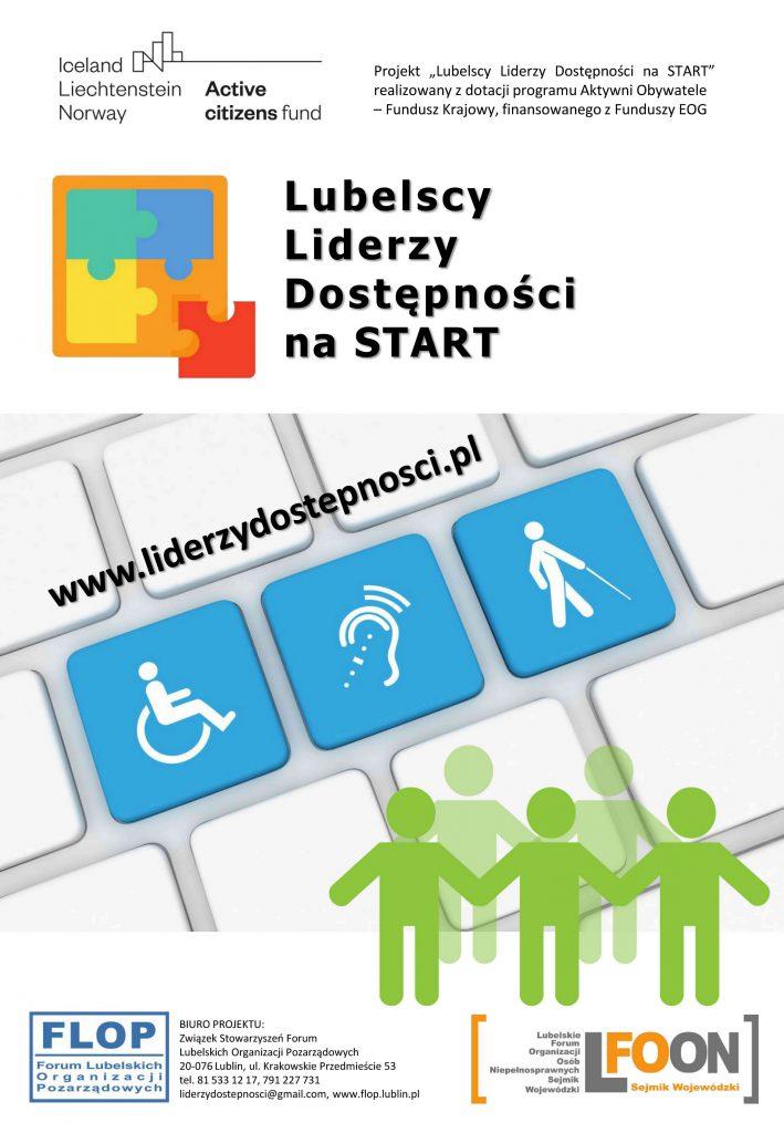 Plakat projektu Lubelscy Liderzy Dostępności na STAR realizowanego przez FLOP i LFOON