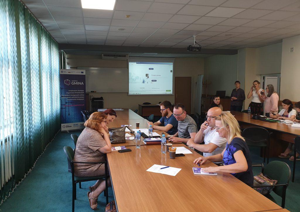Spotkanie wdrażające portal www.JawnaGmina.pl